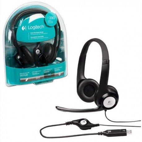 Audifonos Con Microfono Logitech Clearchat Comfort H390 Alambrico Usb Negro